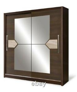 2 Door Sliding Wardrobe-LARGE-Laredo Pine/Sonoma/Mirror. DOME/DO2-20. BRAND New
