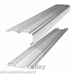 2 White Frame Sliding Mirror Wardrobe Doors & Storage & Track'Stanley Design