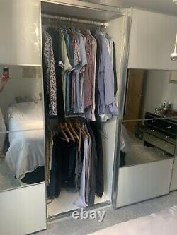 3 metre IKEA pax wardrobes With 4 Sliding mirror doors In Perfect Condition