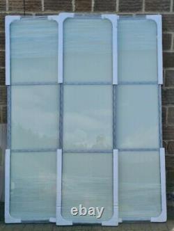 3x610mm Spacepro soft white glass sliding wardrobe doors & tracking