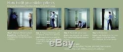 4 x Space Pro Mirror Sliding Wardrobe Doors, Tracks & Interior, White Frame