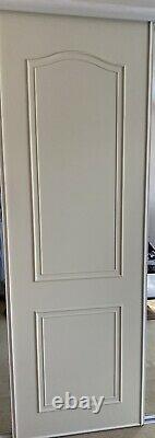 5 Sliding wardrobe Doors, 2 Mirrored White
