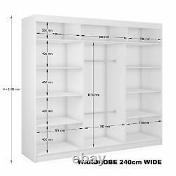 7 SIZES WARDROBE BRAND NEW, VARIOUS COLORS sliding door bedroom furniture MR/PI