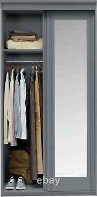Argos Home Hallingford 2 Door Sliding Mirrored Wardrobe Grey