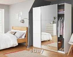 Argos Home Holsted 2 Door Large Mirrored Sliding Wardrobe White