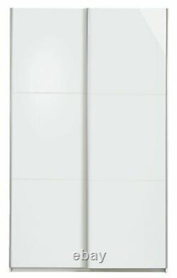 Argos Home Holsted 2 Door Small Sliding Wardrobe White Gloss