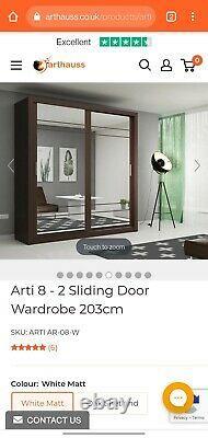 Arthouss 8 2 Sliding Door Wardrobe 203cm