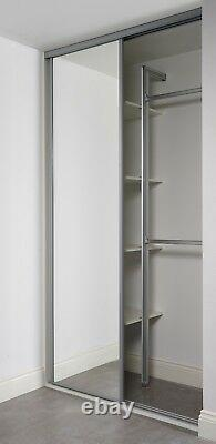 Bespoke fitted wardrobes Glass mirror sliding doors, long and short hanging