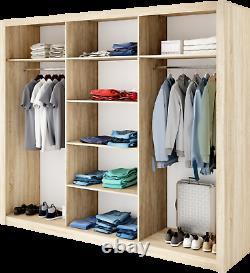 Brand New Modern Wardrobe Sliding Door with Mirror IDEA 01 in Oak Shetland 250cm