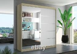 Brand new wardrobe OLIVIER 200cm large mirror 2 sliding doors