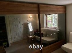 Cost £3200 New! Wardrobe Walnut & Mirrored Sliding Doors-John Lewis Nolte Range