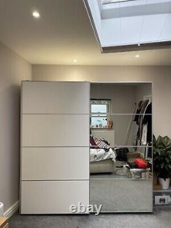 Double IKEA PAX Wardrobe- White With Large Mirrored Sliding Doors