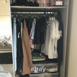 Double mirrored wardrobe sliding doors