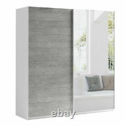 Extra Large Modern Bedroom Wardrobe MONA 200 Sliding Doors EXPRESS DELIVERY