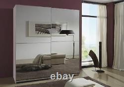 German Wimex Queen White 2 Mirrored Door 180CM Sliding Mirror Wardrobe