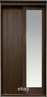 Hallingford 2 Door Sliding Mirrored Wardrobe Wenge