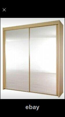 Harvey's Lima Double Wardrobe white exterior with mirrored sliding doors