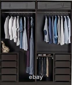 IKEA PAX Double wardrobe with Mirror sliding doors Excellent Condition RRP £1180