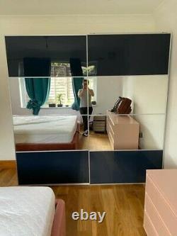 IKEA PAX Wardrobe Sliding Mirror Doors (disassembled)
