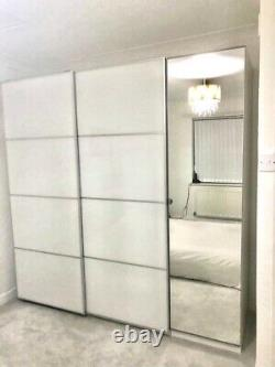 IKEA PAX Wardrobe With Sliding Doors And Mirrored Hinged Door