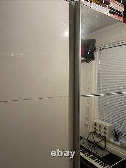 IKEA PAX White Double Sliding Mirrored Doors Wardrobe Used