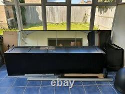 IKEA PAX wardrobes large dark brown with double mirror sliding doors + Add On