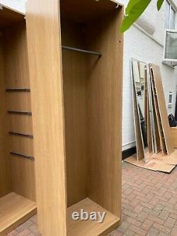 IKEA Pax Wardrobe With Two Sliding Mirror Doors Used