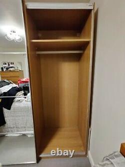IKEA Pax wardrobe oak sliding mirror doors