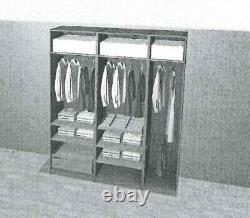 IKEA Tripple Pax Wardrobe mirror sliding doors+side door+ all internal accessory