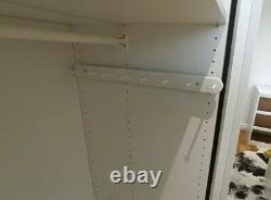 Ikea PAX Double Wardrobe Mirror Sliding Doors 200x65x201cm