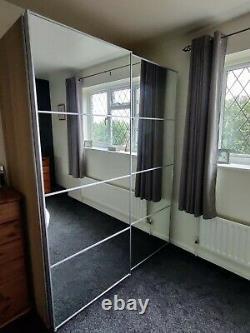 Ikea Pax Wardrobe with sliding mirror doors