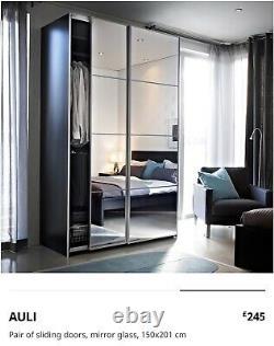 Ikea Pax Wardrobes 301x66.5cm 201cm tall multiple drawers, sliding mirror doors
