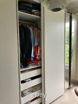 Ikea Pax Wardrobes. White Sliding Doors & Hinged Mirrored Doors