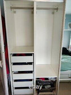 Ikea Pax double wardrobe with sliding doors