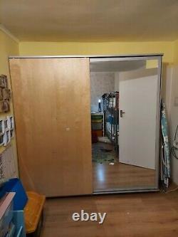 Ikea Wardrobe with Sliding Doors Half Mirrored
