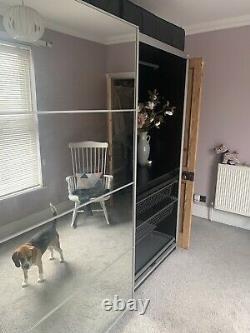 Ikea pax wardrobe sliding doors, Frosted & Mirrored Glass. + instruction