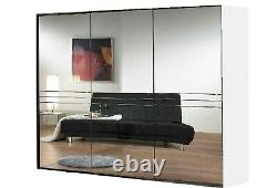 Kruger 3 Door Mirror Wardrobe 300cm wide 3 mirror sliding wardrobe