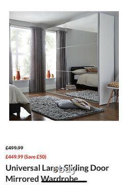 Large Sliding Door Mirrored Wardrobe