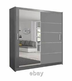 Lyon Modern Bedroom Sliding Door Wardrobe