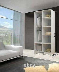 Lyon Sliding Door Wardrobe With LED Light(Free Delivery Including Scotland area)