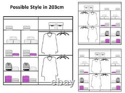 MILANO Double Mirror Sliding Doors Wardrobe UNIVERSAL DESIGN in 3 Color 4 Size