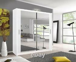MODERN Bedroom Sliding door Wardrobe (6 Sizes) (4 Colour) With Optional LED