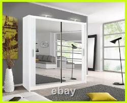 Milan Full Mirror Bedroom Sliding Door Wardrobe(Free Delivery to Scotland area)