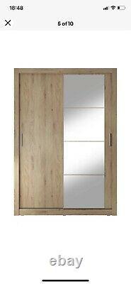 Mirrored wardrobe sliding doors used