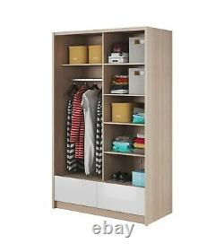 Modern Design wardrobe ARA 1 sliding door and 2 drawers 150 cm Free delivery