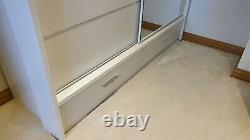 Modern Double Sliding Door Wardrobe with Mirrors & LED