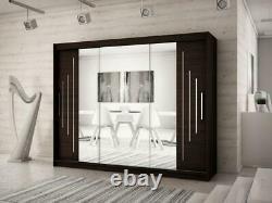 Modern Sliding Door Wardrobe ROCK With Mirror 250 cm Brand New