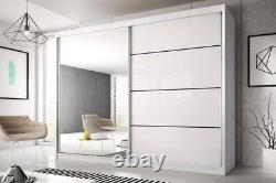 Modern Wardrobes MU 35 two sliding doors with mirror FREE DELIVERY