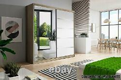 NEW MODERN Sliding Door Wardrobe With Mirror150cm