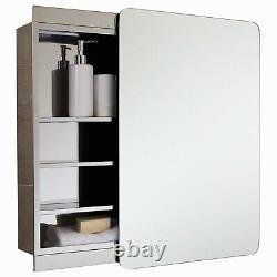 RAK Slide Single Cabinet with Sliding Mirrored Door 660mm H x 460mm W